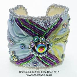Shibori Bead Embroidery Cuff Tutorial
