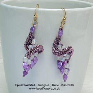 Spiral Waterfall Earrings