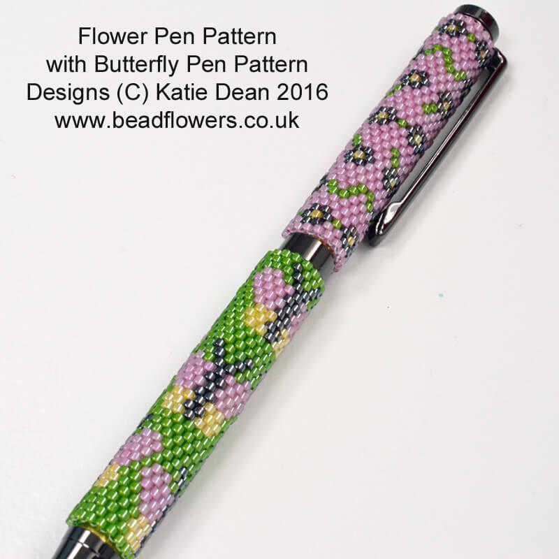 Butterfly Pen with Flower Pen