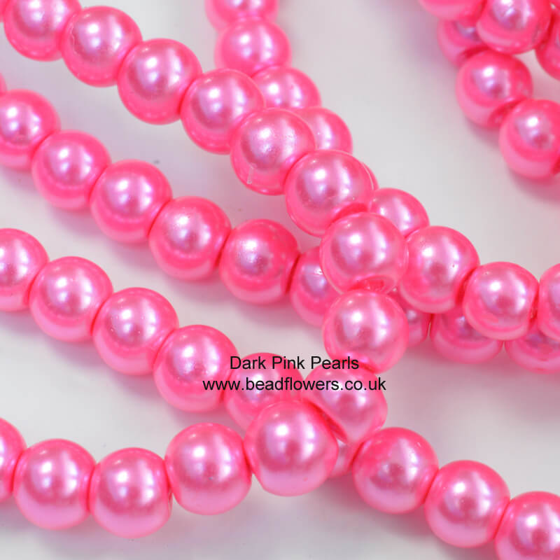 4mm pearls in dark pink