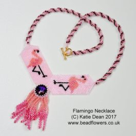 Beading Trends 2017: Beaded Flamingo Necklace Pattern