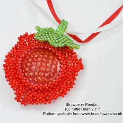Strawberry Pendant: L2 Stuidios Beads