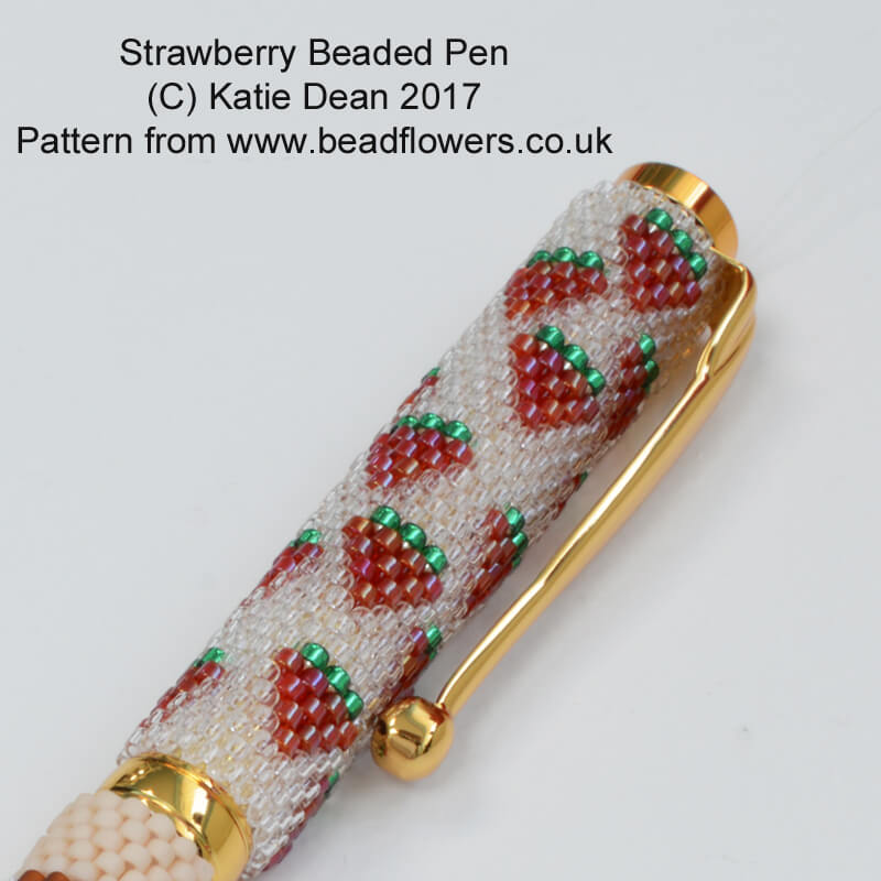 Strawberry Bead Pattern for Pens
