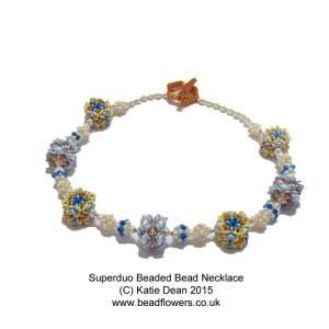 Superduo Beaded Bead Necklace
