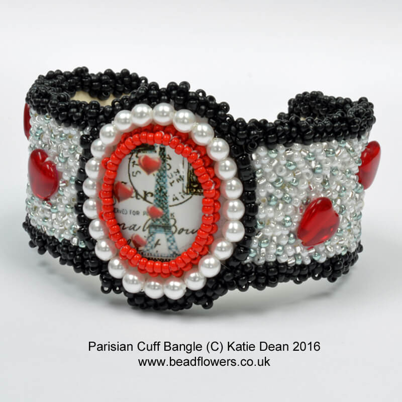 Paris Bead Embroidery Cuff Pattern