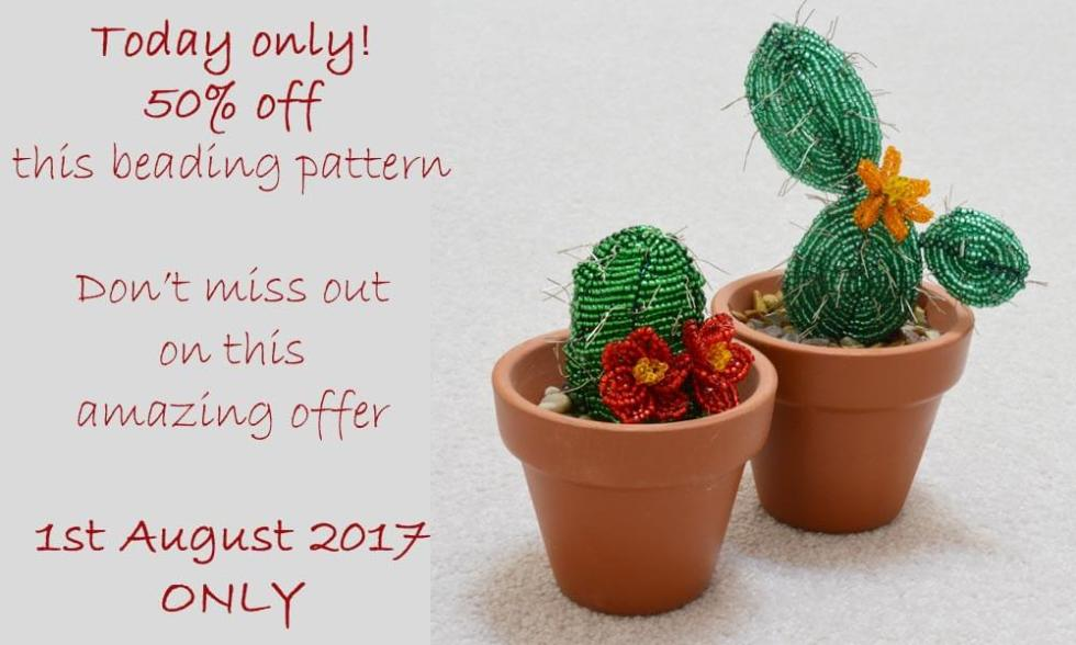 Beaded Cactus Pattern by Katie Dean, Beadflowers