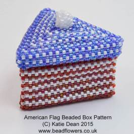 American flag bead pattern