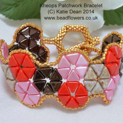 Beaded Bracelet Pattern: Stunning Kheops Par Puca Patchwork by Katie Dean