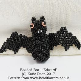 Beaded Bat Pattern, Katie Dean, Beadflowers