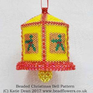 Beaded Christmas Bell Pattern, Katie Dean, Beadflowers