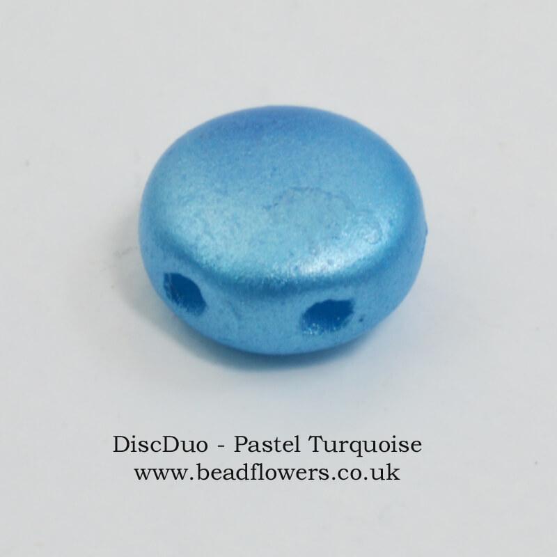 DiscDuo beads, packs of 50, sold in UK by Katie Dean, Beadflowers