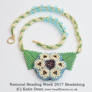 National Beading Week 2017 Beadalong, Katie Dean, Beadflowers
