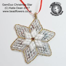 Gem Duo Star Pattern, Katie Dean, Beadflowers
