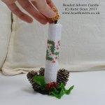 Beaded Advent Candle Pattern, Katie Dean, Beadflowers
