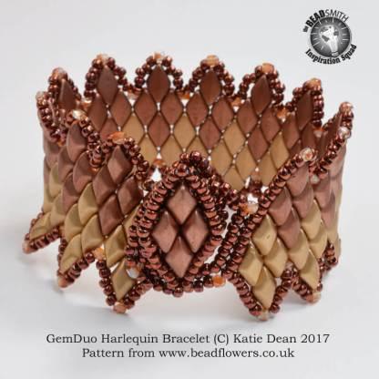 GemDuo Bracelet Harlequin Pattern, Katie Dean, Beadflowers