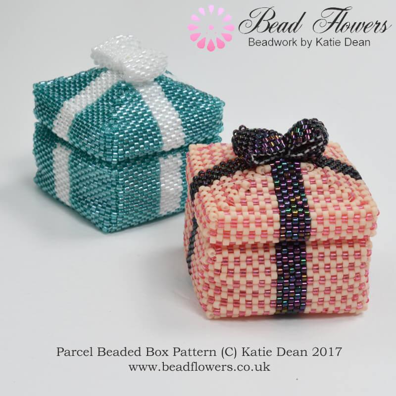 Parcel Beaded Boxes Pattern, Katie Dean, Beadflowers