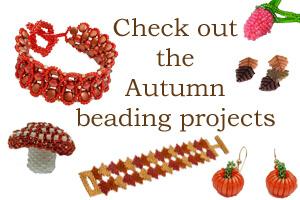 Autumn Beading Projects, Katie Dean, Beadflowers