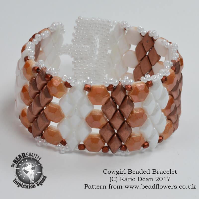 Cowgirl Bracelet Beading Pattern, Katie Dean, Beadflowers