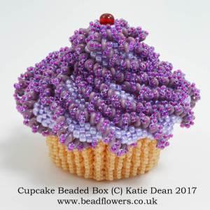 Cupcake Beaded Box Kit, Pattern, Katie Dean, Beadflowers