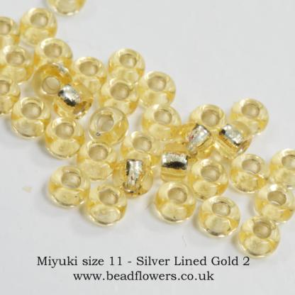 Miyuki size 11 seed beads, Katie Dean, Beadflowers, UK