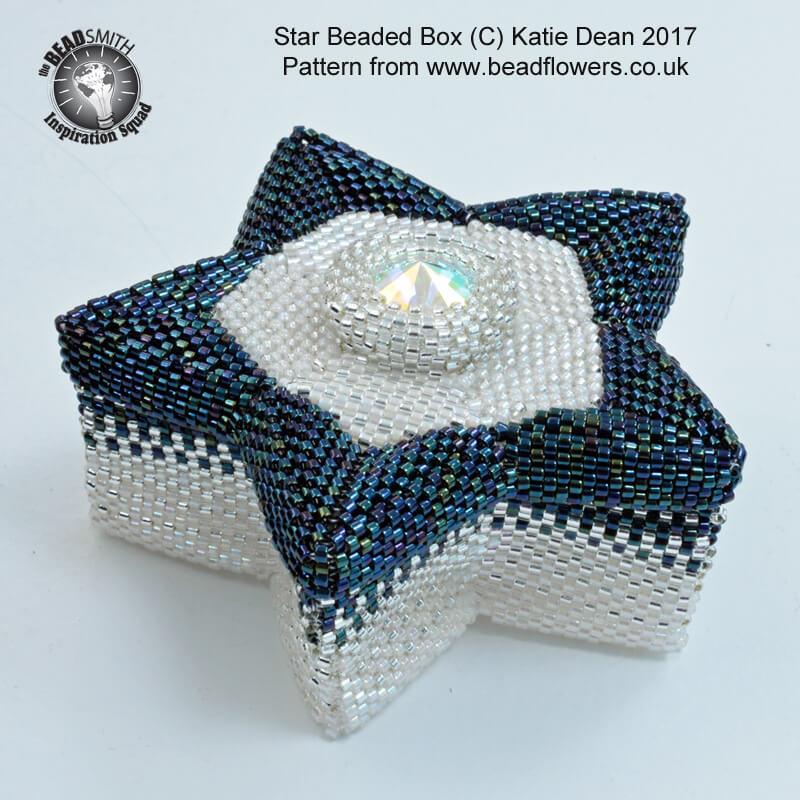Beaded Star Box Pattern, Katie Dean, Beadflowers