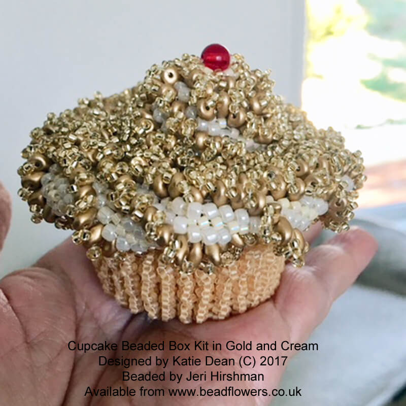 Cupcake Beaded Box Kit and Pattern, Katie Dean, Beadflowers