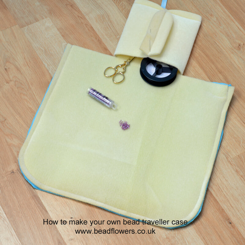 Bead travel case: free instructions to make your own, Katie Dean, Beadflowers