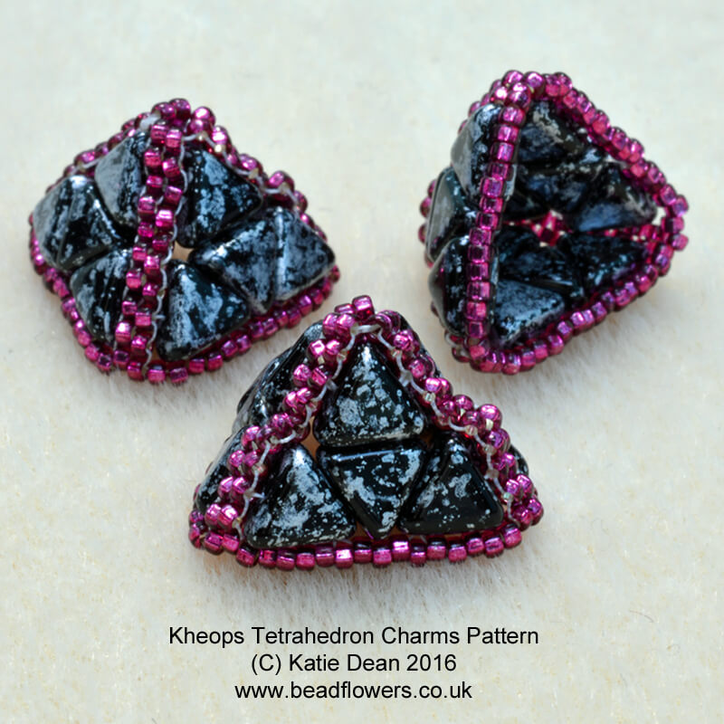 Kheops Charm Tetrahedron Shape, Katie Dean, Beadflowers