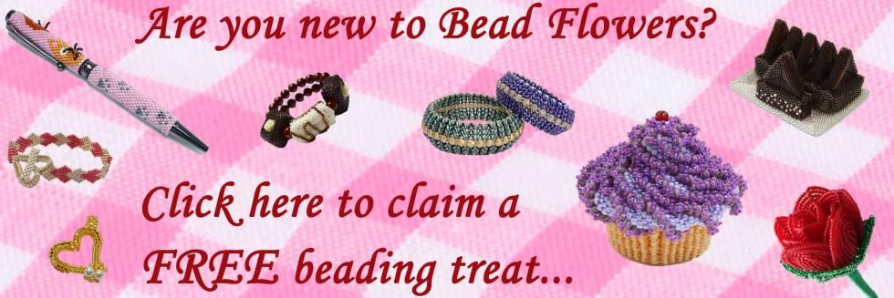 Bead Flowers, Beadwork by Katie Dean