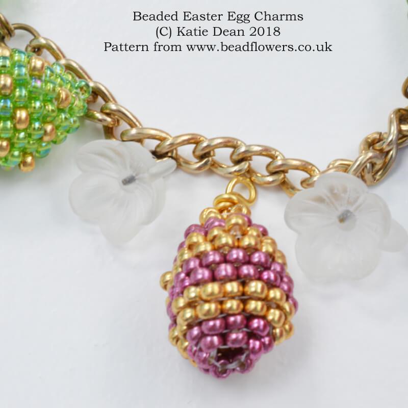 Beaded Easter Eggs Charm Jewellery Pattern, Katie Dean, Beadflowers