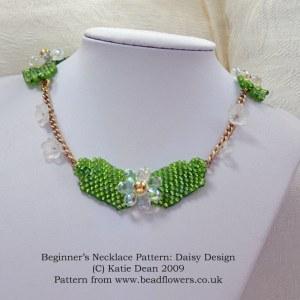 Beginner Necklace Pattern: Daisy Design, Katie Dean, Beadflowers