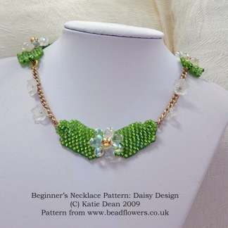 Beginner Necklace Pattern: Daisy Design, Katie Dean, Beadflowers