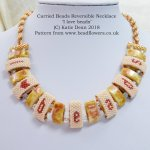 Carrier Beads Necklace Pattern: reversible design, Katie Dean, Beadflowers