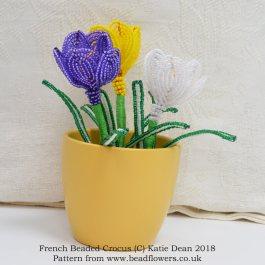 French Beaded Crocus Pattern, Katie Dean, Beadflowers