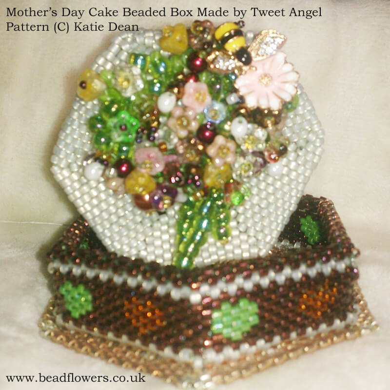 Beaded Cake Box Kit, Tweet Angel, Design, Katie Dean, Beadflowers
