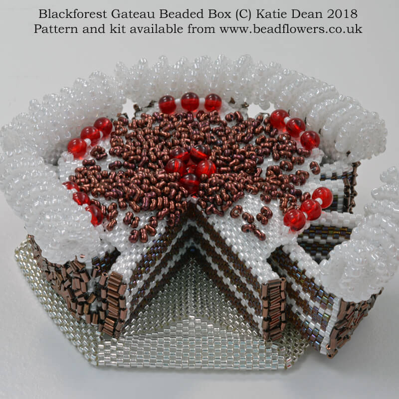 Blackforest Gateau Beaded Box Kit and Pattern, Katie Dean, Beadflowers