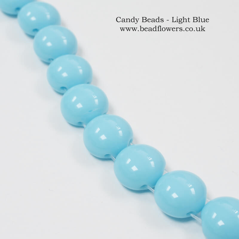 Candy Beads, UK, 20 bead strand, Katie Dean Beadflowers