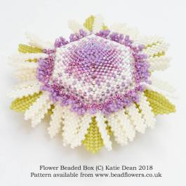Flower Beaded Box Pattern, Katie Dean, Beadflowers