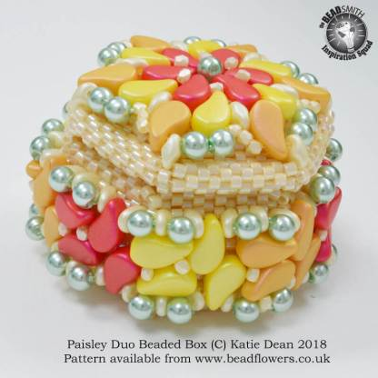 Paisley Duo Beaded Box Kit and Pattern, Katie Dean, Beadflowers