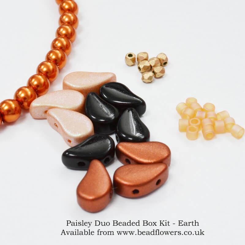 Paisley Duo Beaded Box Kit, Katie Dean, Beadflowers