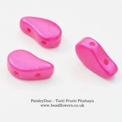 Paisley Duo Beads UK - 10g packs, Katie Dean Beadflowers