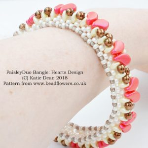 Paisley Duo Bangle Pattern, Katie Dean, Beadflowers