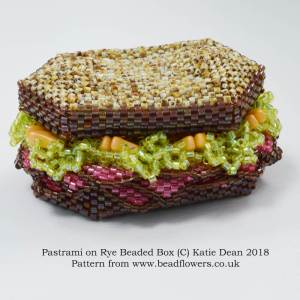 Pastrami on Rye Beaded Box Kit or Pattern, Katie Dean, Beadflowers