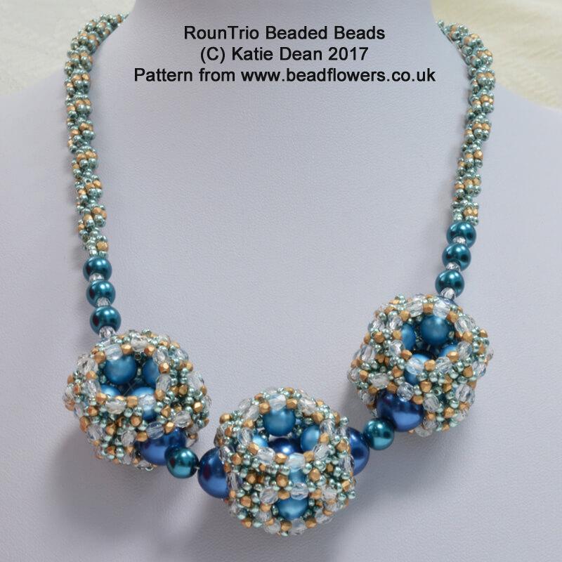 RounTrio Beaded Beads Pattern, Katie Dean, Beadflowers