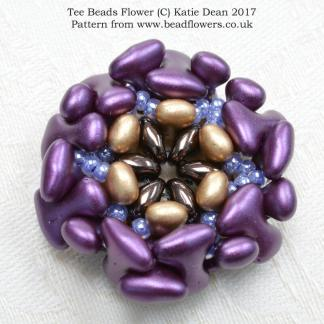Tee Beads Flower Pattern, Katie Dean, Beadflowers