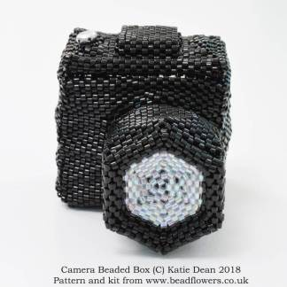 Camera beaded box kit or pattern, Katie Dean, Beadflowers