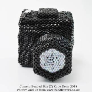 Camera beaded box kit or pattern, Katie Dean, Beadflowers