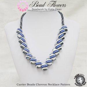 Carrier beads chevron necklace pattern, Katie Dean, Beadflowers