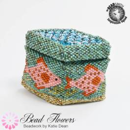 Underwater beaded box, Katie Dean, Beadflowers