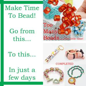 IBW2018, Make time to bead course, Katie Dean, Beadflowers